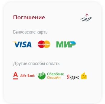 каким способом можно оплатить кредит